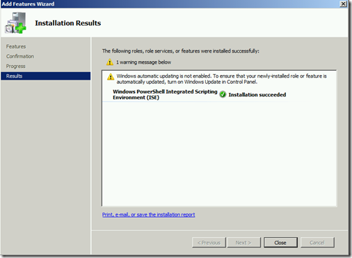 Install ISE Done