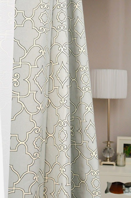 Loom Decor: The Taj in Pearl Gray, Curtains via MonicaWantsIt.com #diy #home