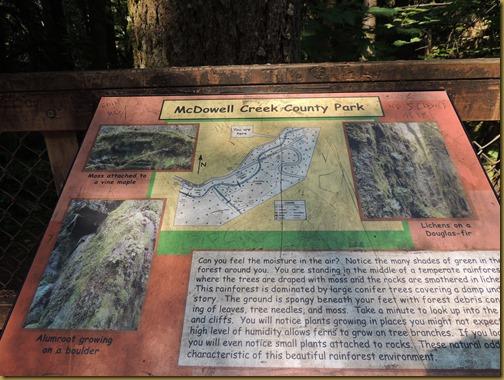 mcdowell creek sign