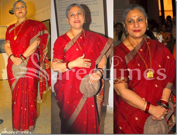 Jaya_Bachchan_Red_Silk_Saree