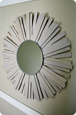 knock off sunburst mirror