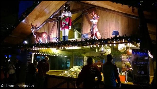Southbank Christmas Market German food