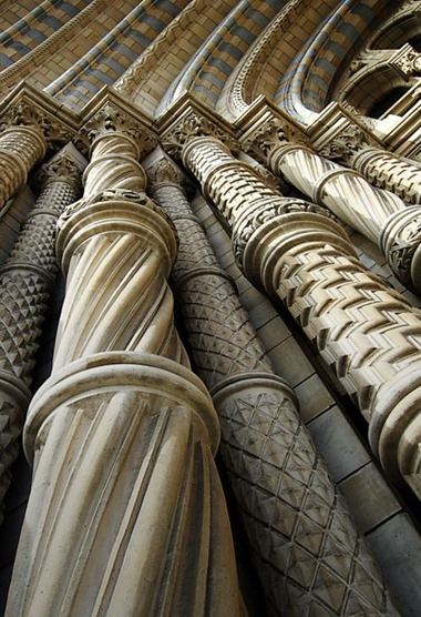 Façade Pillars Natural History Museum London, UK