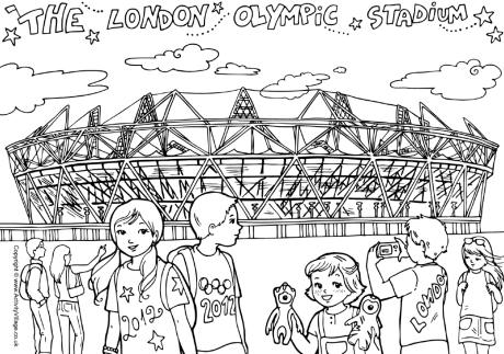London Olympic Stadium colouring page
