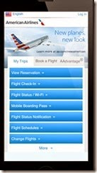 American Airlines on Smartphone