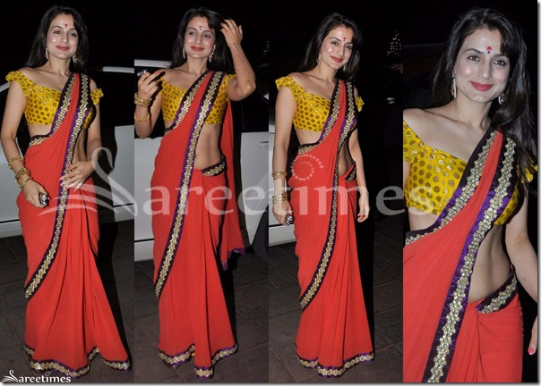 Amisha_Patel_Red_Georgette_Saree