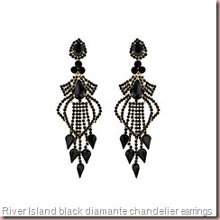 black diamante chandelier earrings