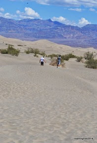 Walking on the sand dunes