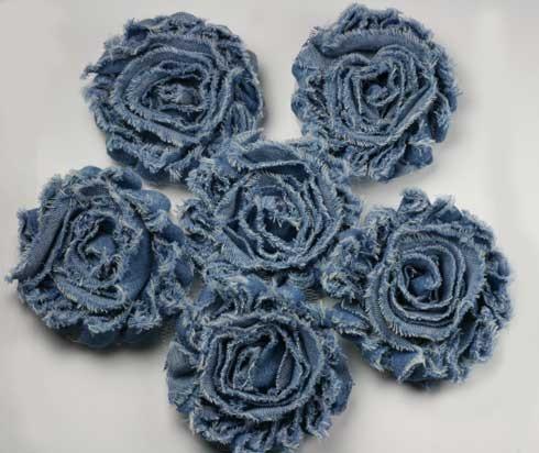 Розы из джинсовой ткани своими руками