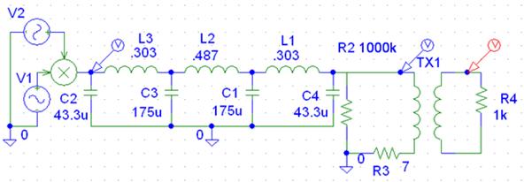Schematic diagram of Transformer circuit
