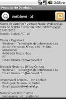 Screenshot of Pesquisa de Domínios