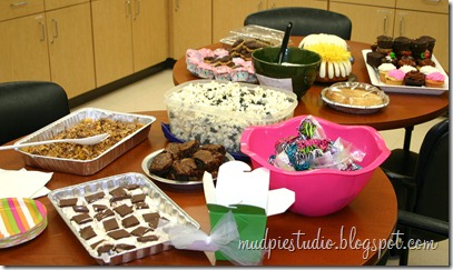 Teacher Appreciation Week - Dessert Day - mudpiestudio@blogspot.com