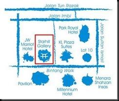Map to Jogoya Japanese Buffet Restaurant Starhill Gallery KL