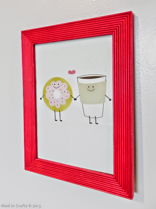framed Treat card