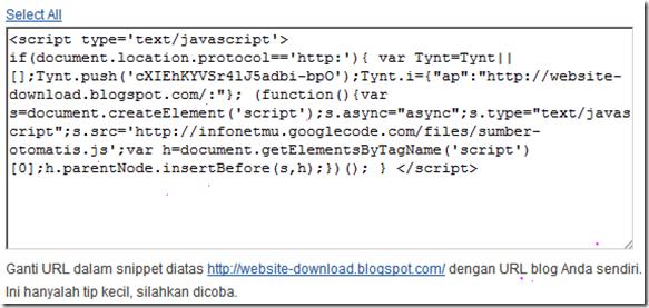 script perlindungan artikel dari copy paste