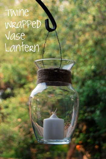 twine wrapped vase lantern