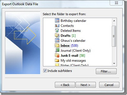 How To Use Import And Export In Outlook 2010 9