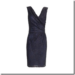 Lourdes WRAPPED RUCHED FRONT DRESS INDIGO