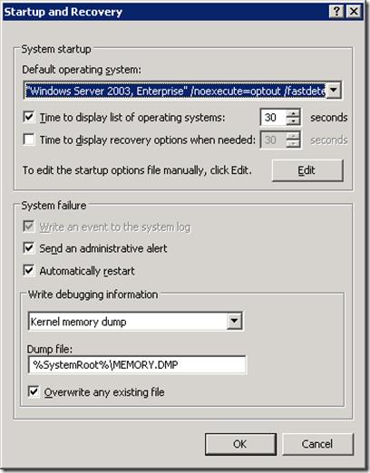 Windows 2003 System Startup