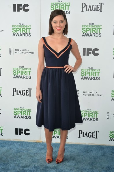 Aubrey Plaza attends the 2014 Film Independent Spirit Awards