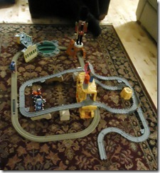train sets christmas morning