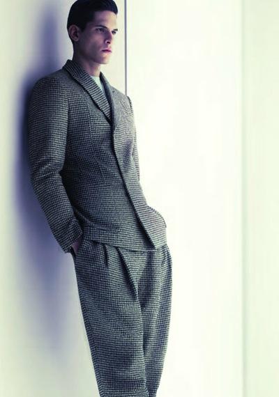 Diego Fragoso by Mert & Marcus for Giorgio Armani F/W 2011