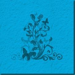 concrete butterfly blue