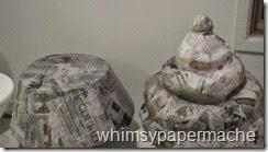 paper mache cupcake 1