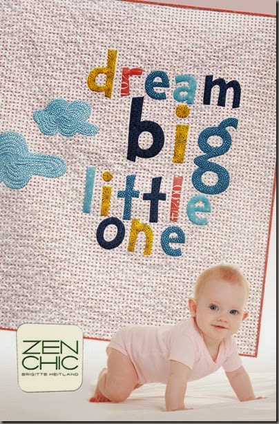 Dream Big modern baby quilt pattern Zen Chic