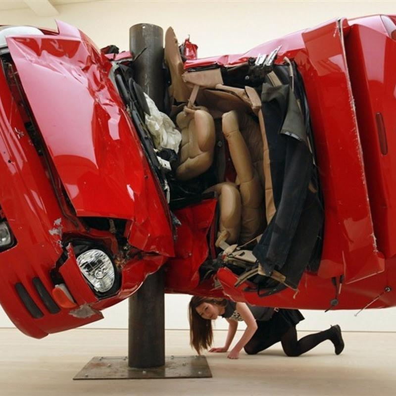 Dirk Skreber's Car Crash Sculptures
