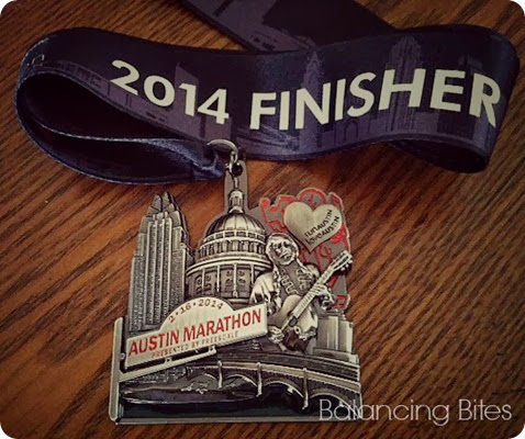 Balancing Bites Austin Marathon Recap