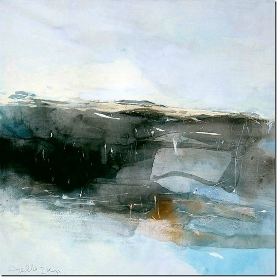 Landscape on white-Sergio-Aiello-ENKAUSTIKOS