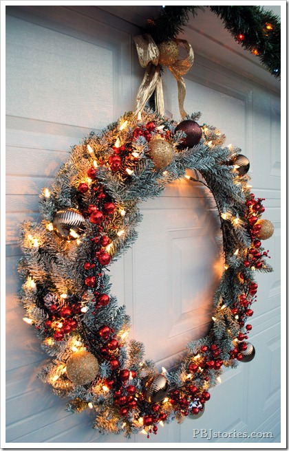 PBJstories oversized holiday wreath