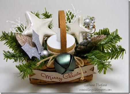 LeAnne Pugliese WeeInklings Candle Basket Christmas Crafts