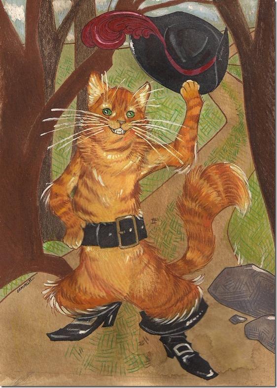 El Gato con Botas,El gato maestro,Cagliuso, Charles Perrault,Master Cat, The Booted Cat,Le Maître Chat, ou Le Chat Botté (17)