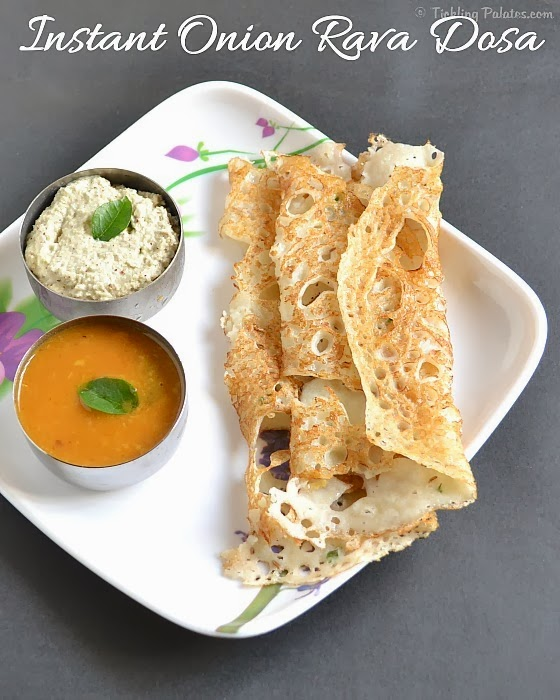 Onion Rava Dosa Recipe