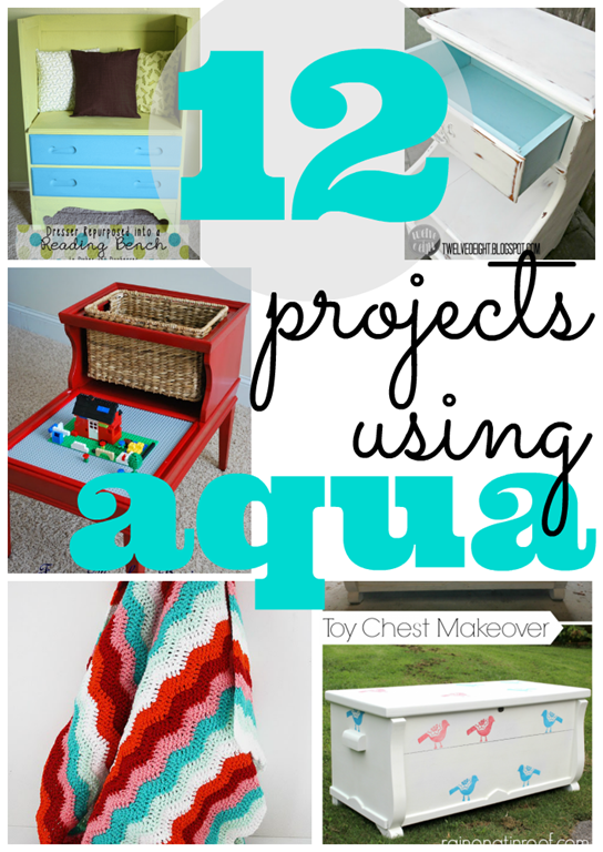 12 projects using #Aqua #feature #linkparty #gingersnapcrafts