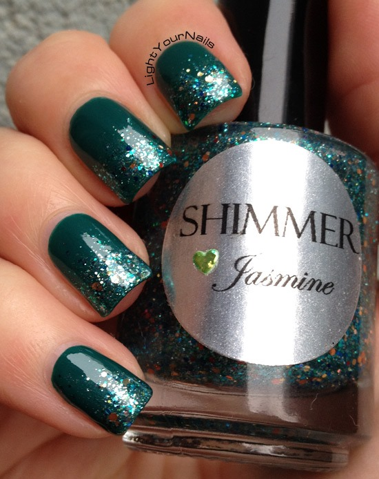 Shimmer Jasmine glitter gradient