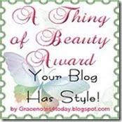 A thing of beauty award