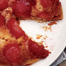 Ruby Plum Upside-Down Cake