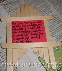 Popsicle sticks or Ice cream sticks Frame  (7)