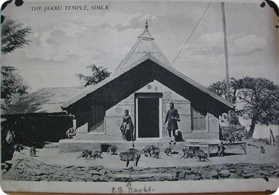 19th Century Postcard of Jakhoo Temple
