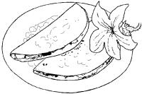 Quesadillas de flor de calbaza -Pina