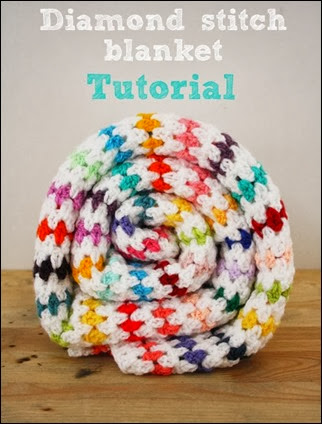 Diamond stitch blanket tutorial