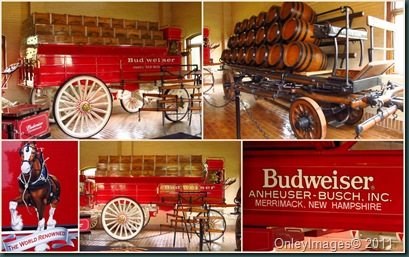 beer wagons collage