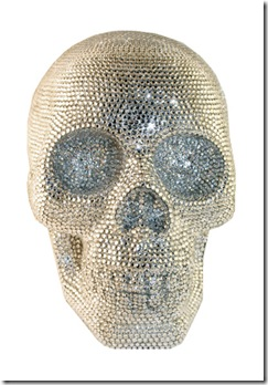 Rhinestone Clear skull WEB
