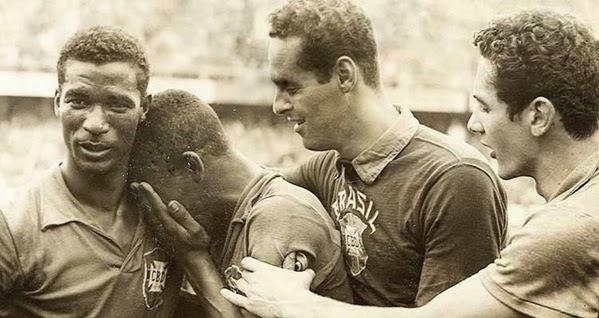 Pelé chora em 1958