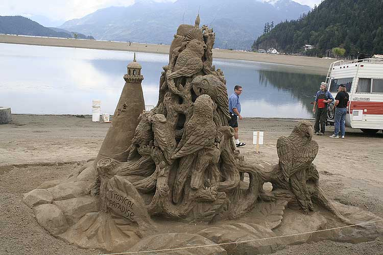 SAND CASTLES competition in Oregon