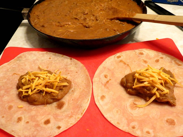 beef bean and cheese burritos fast cheap and easy