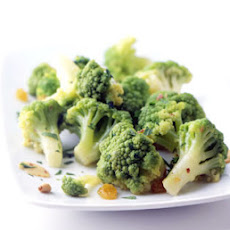 Broccoflower with Anchovies and Garlic